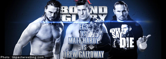 EC3 defends TNA Championship in a triple threat at tonight's Bound for Glory PPV