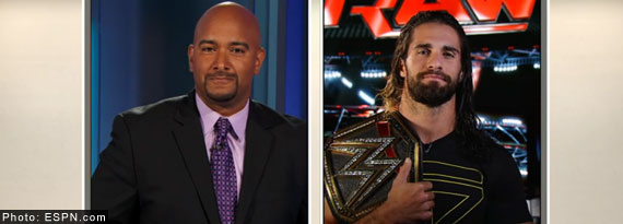 ESPN introduces a new top moments from RAW segment and Seth Rollins interview