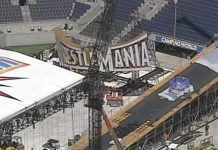 WrestleMania 33 set