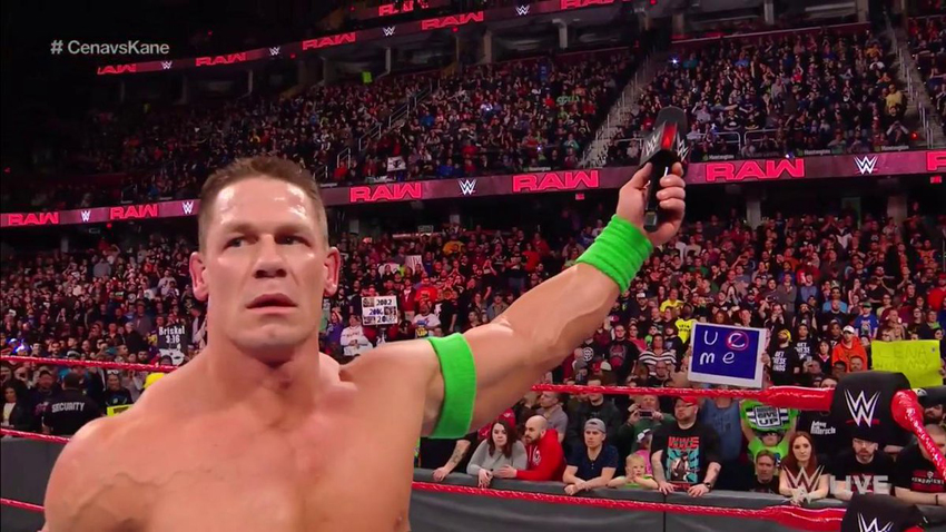 wwe raw results 3 26 18 john cena vs kane hype for wrestlemania 34 in two weeks wwe news. Black Bedroom Furniture Sets. Home Design Ideas