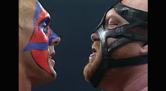 Sting and Vader during their time in WCW