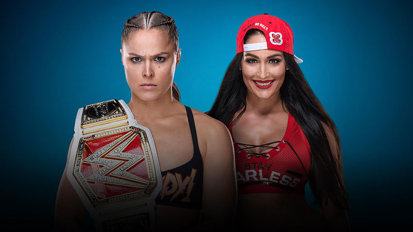 Image result for Nikki Bella vs Ronda Rousey Evolution