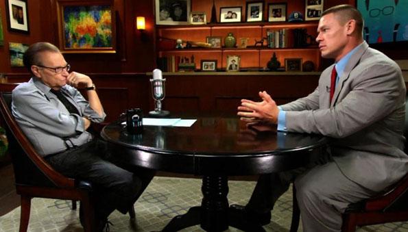 "John Cena appears on ""Larry King Now"""