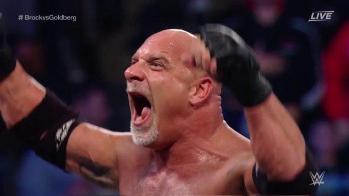 Golberg defeated Brock Lesnar