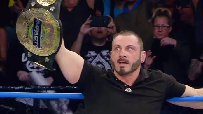 Image result for Austin Aries Returns To Impact defeats Eli Drake for World Title