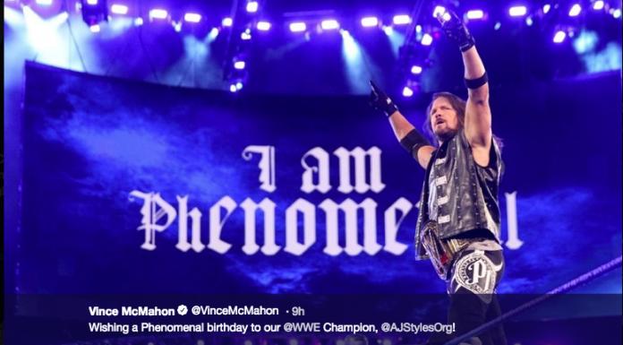 Vince McMahon wishes AJ Styles a happy birthday