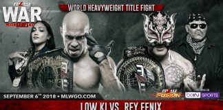 Rey Fenix vs. Low Ki September 6