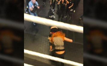 Becky and Charlotte altercation
