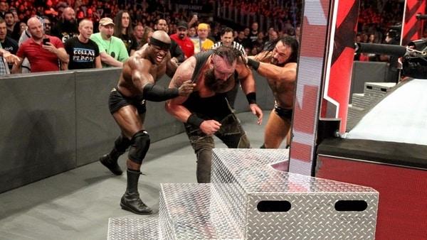 WWE selling strowman injury