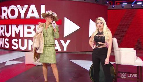 Alexa Bliss competing Royal RUmble
