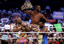 Kofi Kingston title win celebration Ghana