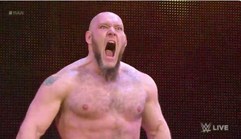 Lars Sullivan RAW debut