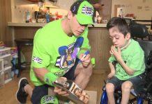 John Cena surprises terminally ill boy
