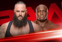 Strowman vs. Lashley Falls Count Anywhere Match RAW