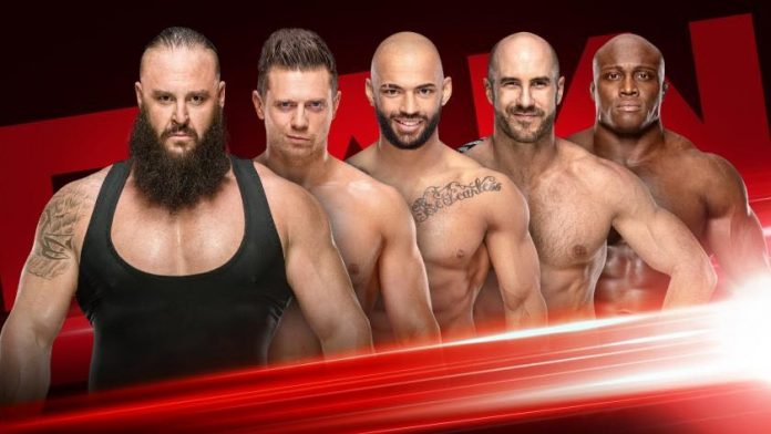 Fatal 5 Way Match Monday Night RAW