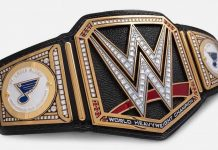 Triple H gifts St. Louis Blues custom WWE Title Belt