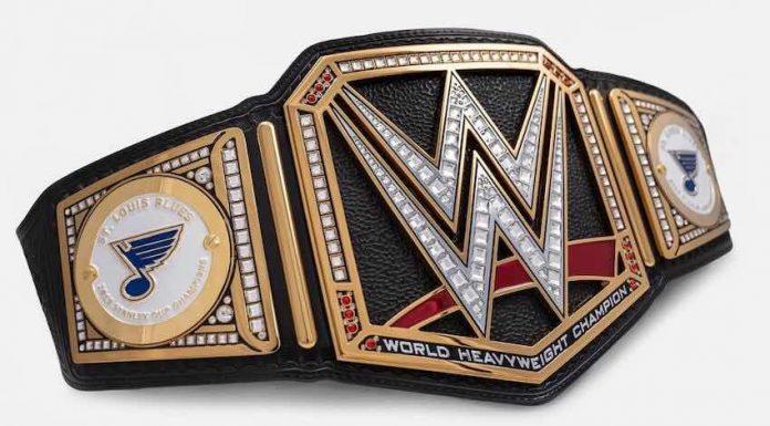 Triple H gifts St. Louis Blues custom WWE Title Belt