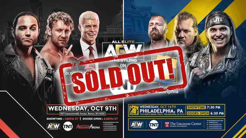 AEW Sells Out Boston and Philadelphia for TNT