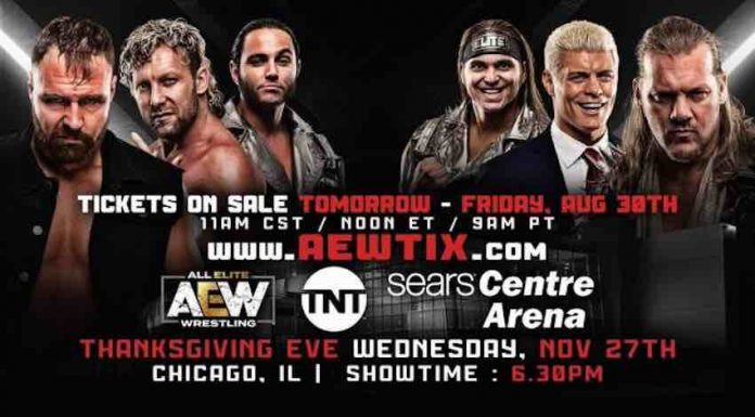 AEW returning to Sears Centre in November