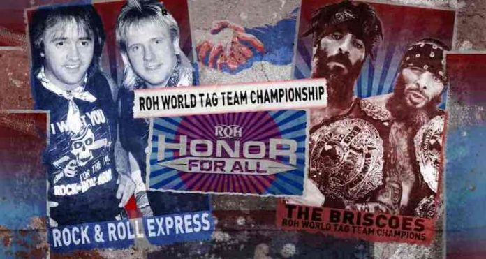 Rock N Roll Express challenging for ROH Tag Team Titles