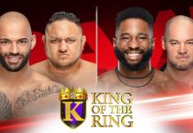 King of the Ring quarterfinals on RAW this Monday