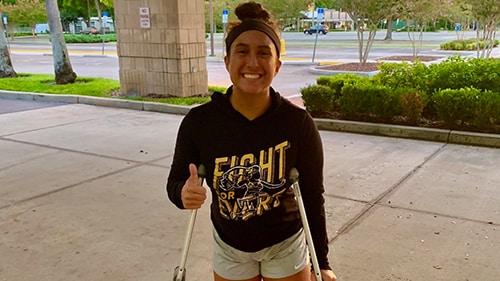 Rachel Evers injured