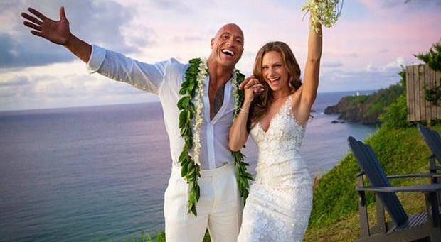 The Rock gets married