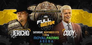 Chris Jericho defends AEW Title against Cody at Full Gear PPV