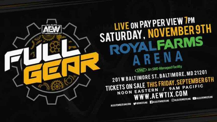 AEW Full Gear Tickets go on-sale this Friday Sept 6
