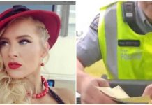 Lacey Evans remains in character while receiving a speeding ticket