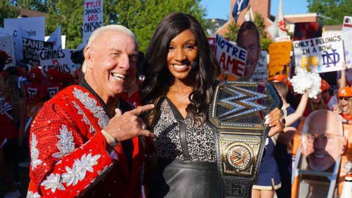 Ric Flair appears on ESPN College GameDay in Georgia