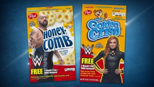 WWE and Post Cereal