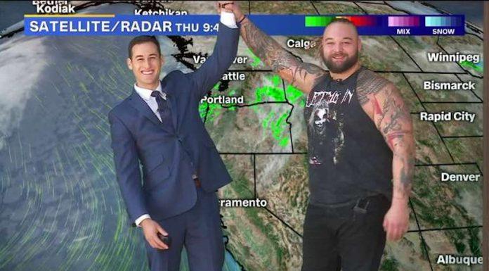 Bray Wyatt appears on Fox News 40 in Sacramento