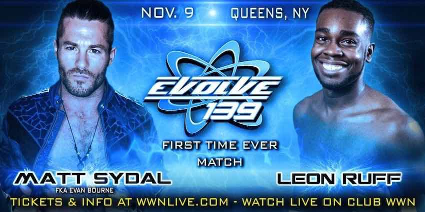 Matt Sydal leaves match during EVOLVE 139 after suffering apparent injury