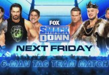 6-Man Tag Team Match for next Friday's SmackDown on FOX