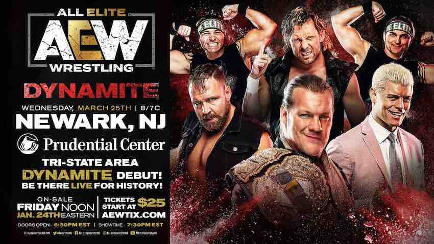 AEW Dynamite coming to New Jersey March 2020