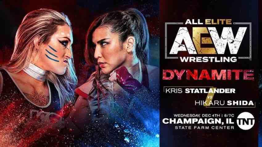 Kris Statlader vs. Hikaru Shida this Wednesday on AEW Dynamite