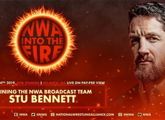 NWA Into the Fire card