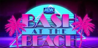 "First look at the set for tonight's AEW Dynamite ""Bash at the Beach"""