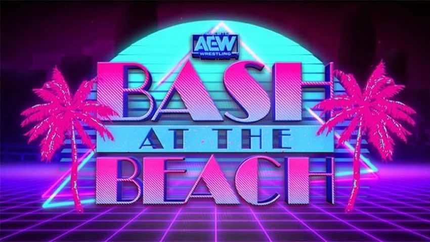 """First look at the set for tonight's AEW Dynamite """"Bash at the Beach"""""""