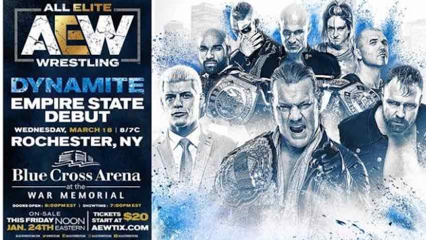 AEW Dynamite coming to Rochester, NY March 18