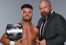 Triple H congratulates Jordon Devlin on winning NXT Cruiserweight Championship