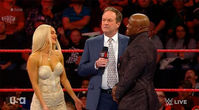 Actor tackled on Raw