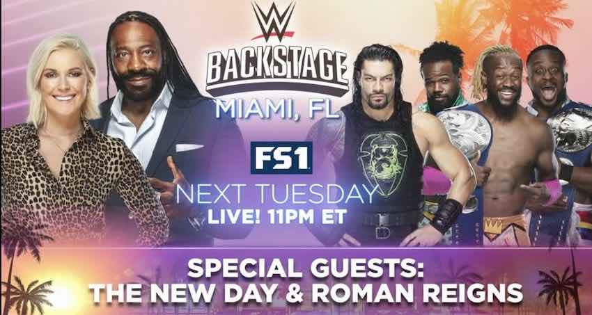 Tuesday's episode of WWE Backstage to air from Miami