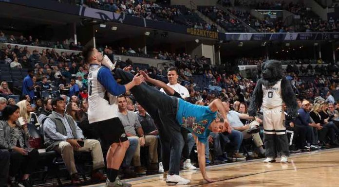 The Young Bucks attend Tuesday night's Memphis Grizzlies NBA game