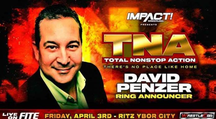 Former TNA Wrestling Ring Announcer for There's No Place Like Home