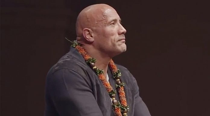"""""""The Rock"""" shares video of eulogy he gave at his father's funeral"""