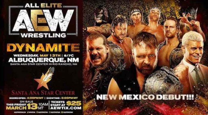 AEW to debut in New Mexico with Dynamite May 13