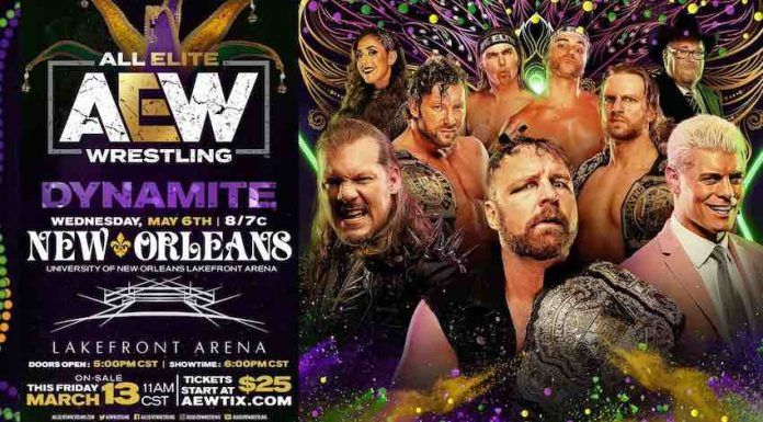 AEW to debut in New Orleans with Dynamite on Wednesday, May 6