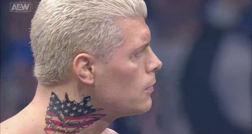"Cody Rhodes debuts new ""Nightmare Family"" logo tattoo"